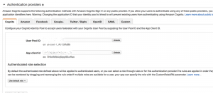 Add authentication providers to the federated identity
