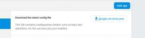 Download the google-services.json