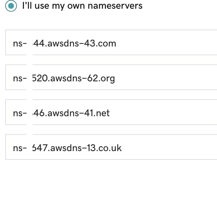 Updated nameservers
